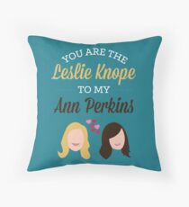 Leslie & Ann Throw Pillow