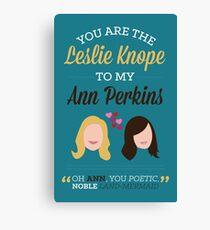 Leslie & Ann Canvas Print