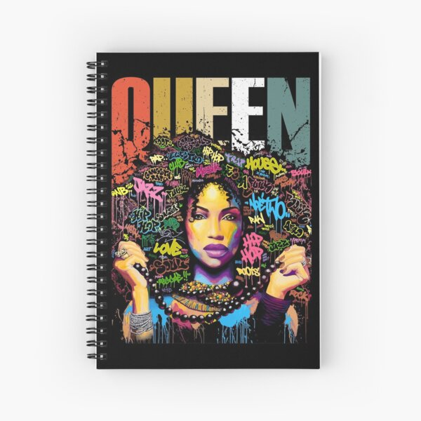 Queen , Black Women Strong, Black Girl, Melanin , Black Queen , black girl art, Afro women , Brown Sugar  Spiral Notebook