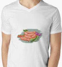 Pork Sausages Vegetables Drawing T-Shirt