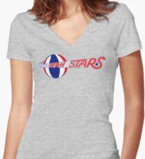 DEFUNCT - UTAH STARS Women's Fitted V-Neck T-Shirt
