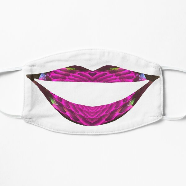 Chocolate Covered Strawberry Lips Fractal Art Mask Flat Mask