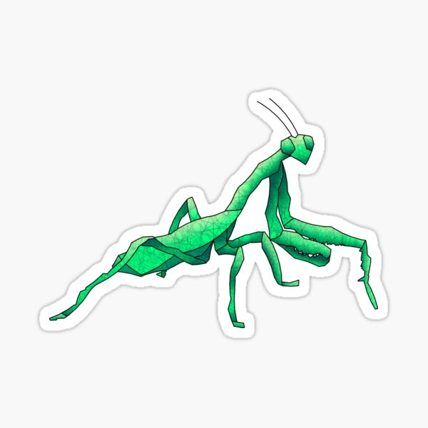 Praying Mantis Sticker