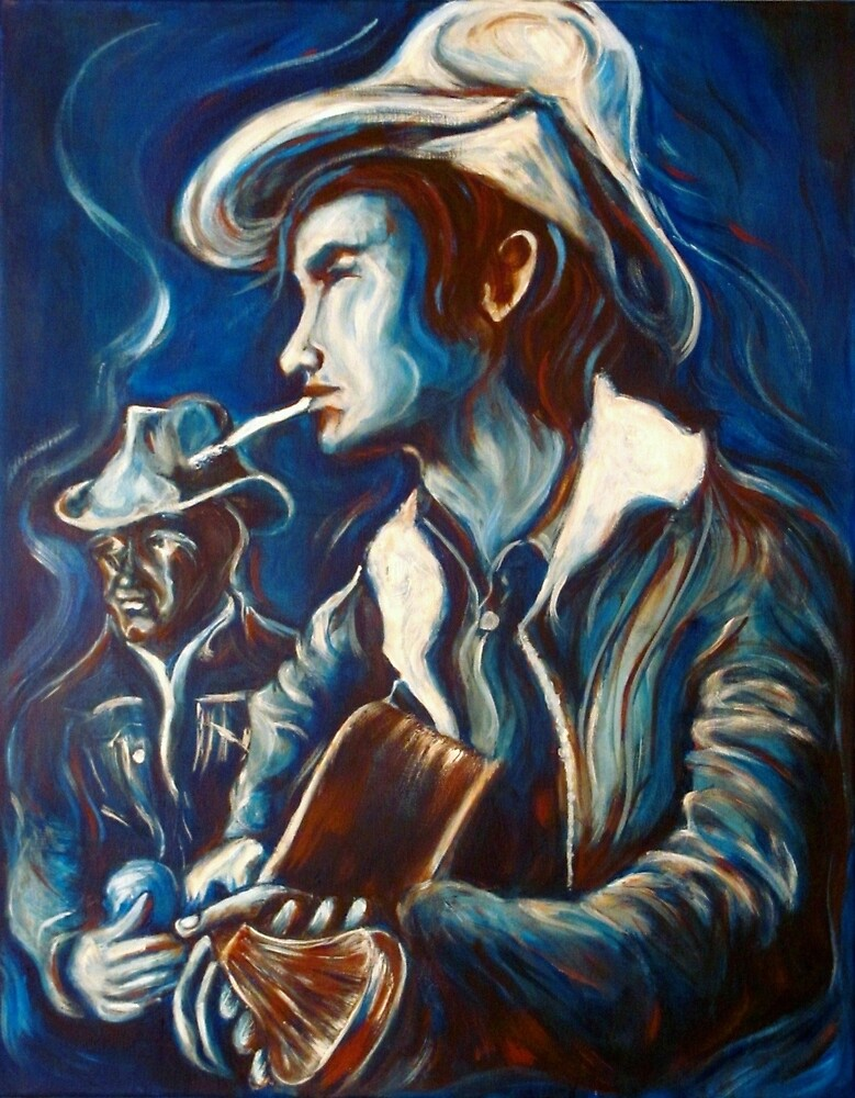 Townes Van Zandt Blues by Heartwornart