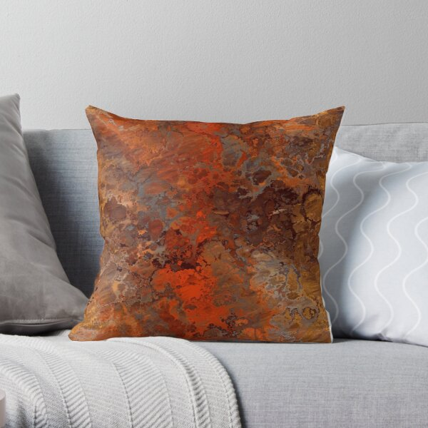 Gold and Rust Throw Pillow