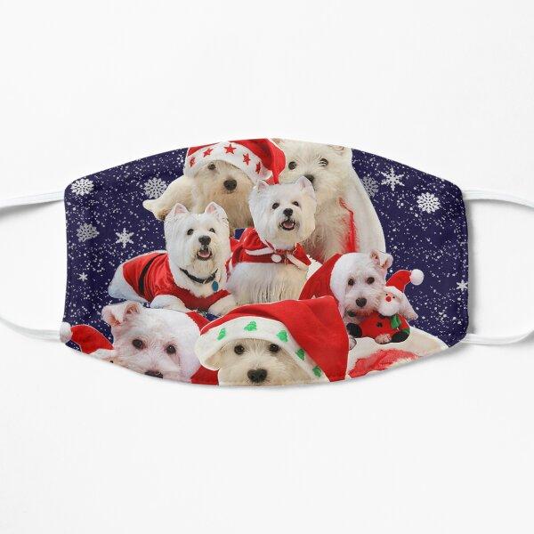 Westie Christmas tree dog pajamas Flat Mask