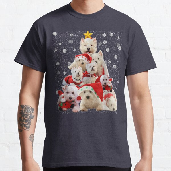 Westie Christmas tree dog pajamas Classic T-Shirt