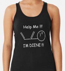 Help Me, I'm Diene !!! Chemistry Joke Racerback Tank Top