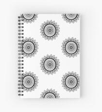 Mandala II: Black/White Spiral Notebook