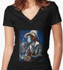 Townes Van Zandt Blues Shirt mit V-Ausschnitt