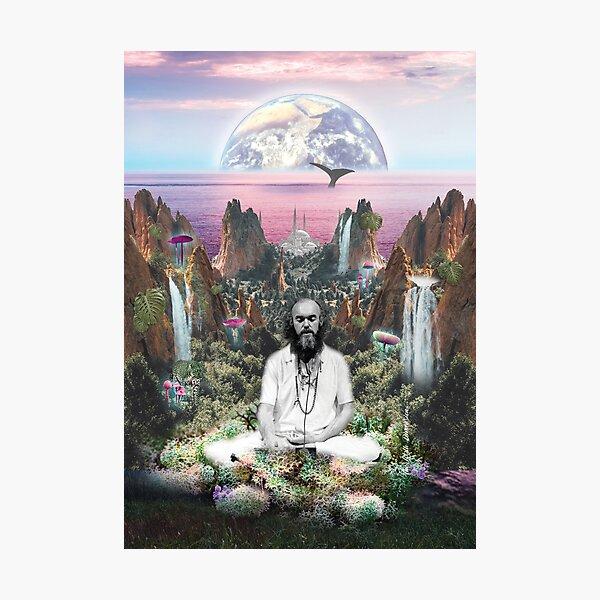 Ram Dass Meditating Ocean Photographic Print