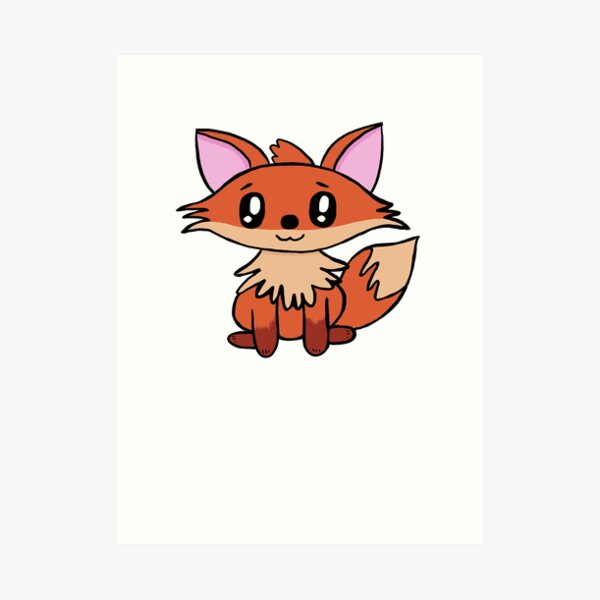 Lil Critters:  Red The Fox Art Print