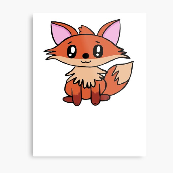 Lil Critters:  Red The Fox Metal Print
