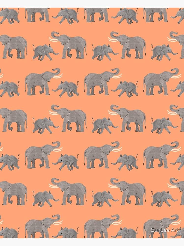 Cheerful Elephants by sunleeart