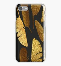 - Golden feathers - iPhone Case/Skin