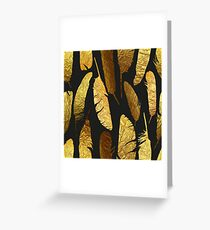 - Golden feathers - Greeting Card