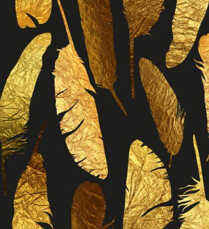 - Golden feathers - Sticker