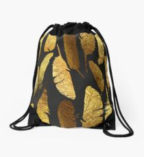 - Golden feathers - Drawstring Bag