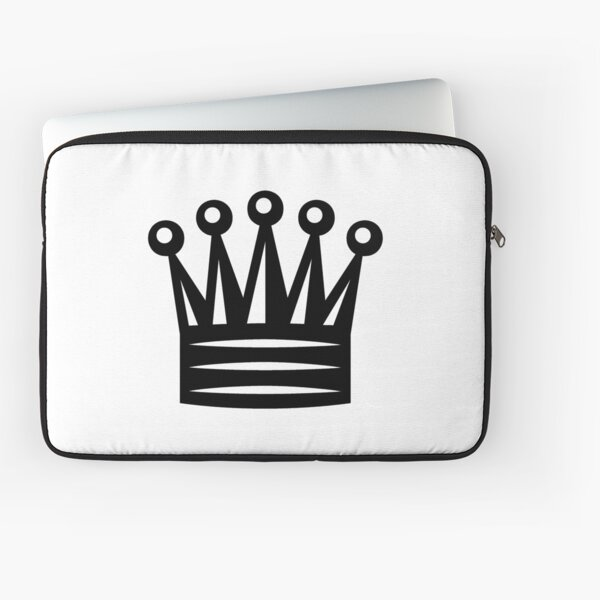 Chess, Chess Crown, Crown Emoji, ♛ Laptop Sleeve