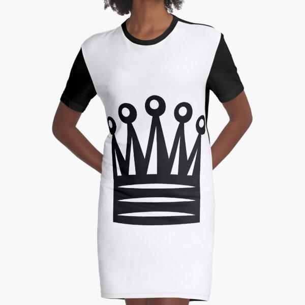 Chess Crown,  Crown Emoji, ♛ Graphic T-Shirt Dress