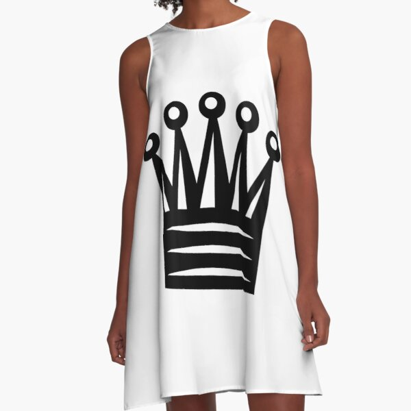 Chess Crown,  Crown Emoji, ♛ A-Line Dress