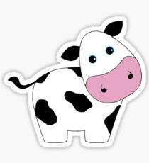 Cute Black and White Cow Sticker