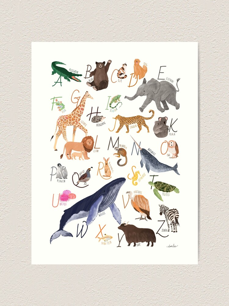 Alternate view of Animal Alphabet Art Print