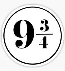 Nine and Three Quarters Sticker