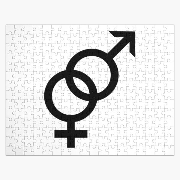 Gender Equality Sign, Heterosexual Symbol, ⚤ Jigsaw Puzzle