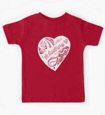 Valentine 2 Aussie Tangle White - See Description Notes re Background Colour Choices Kids Tee