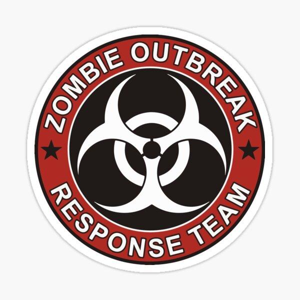 Equipo de respuesta al brote de zombis Pegatina