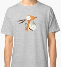 Fox and White Rose Classic T-Shirt