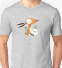 Fox and White Rose Unisex T-Shirt