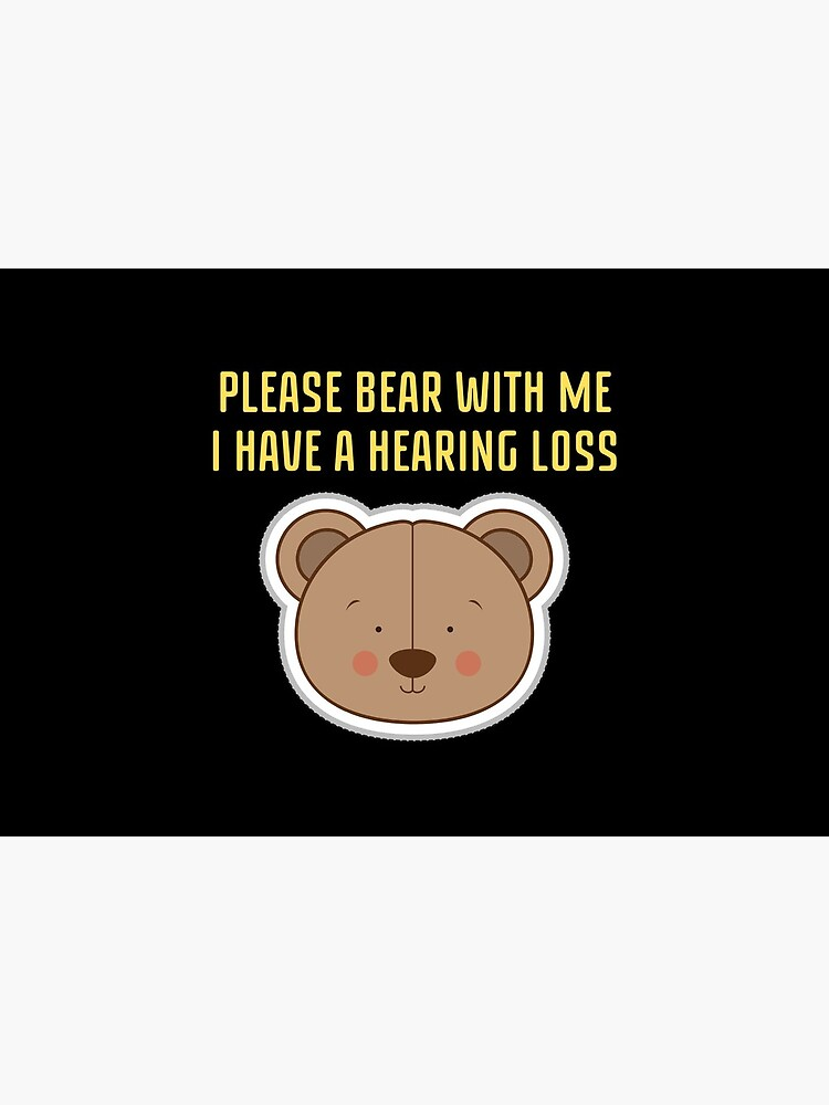 Hearing Impaired Mask - Please Bear With Me, I Have A Hearing Loss by ibnujusup