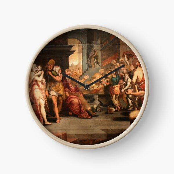 Painting: les ouvriers de la renaissance. Workers In The Vineyard, Oil On Panel, Circle Of Frans Floris, 16th Clock