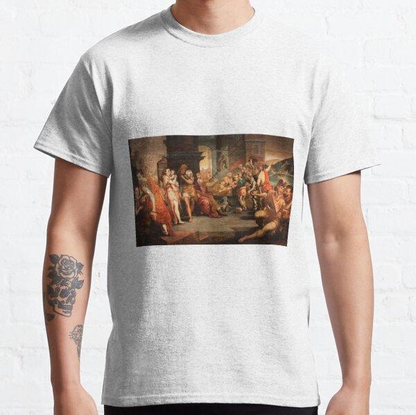 Painting: les ouvriers de la renaissance. Workers In The Vineyard, Oil On Panel, Circle Of Frans Floris, 16th Classic T-Shirt