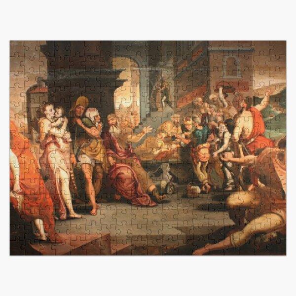 Painting: les ouvriers de la renaissance. Workers In The Vineyard, Oil On Panel, Circle Of Frans Floris, 16th Jigsaw Puzzle