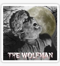 The Wolfman howling at the moon Sticker