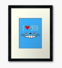 Totoro - I love you Framed Print