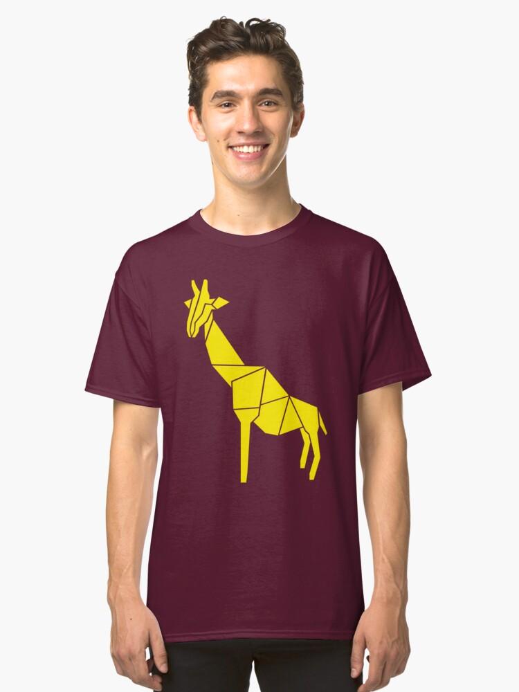 Origami Giraffe Classic T-Shirt Front