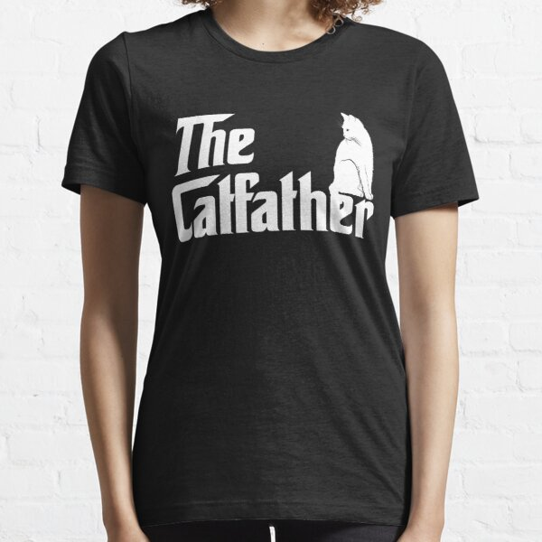 The Catfather T-Shirt Funny Cat Parody Men Fathers Day Gift Essential T-Shirt
