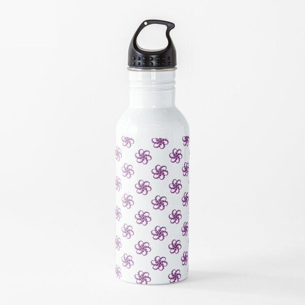Yin Yang Design - Pink Color Spider Pattern Water Bottle