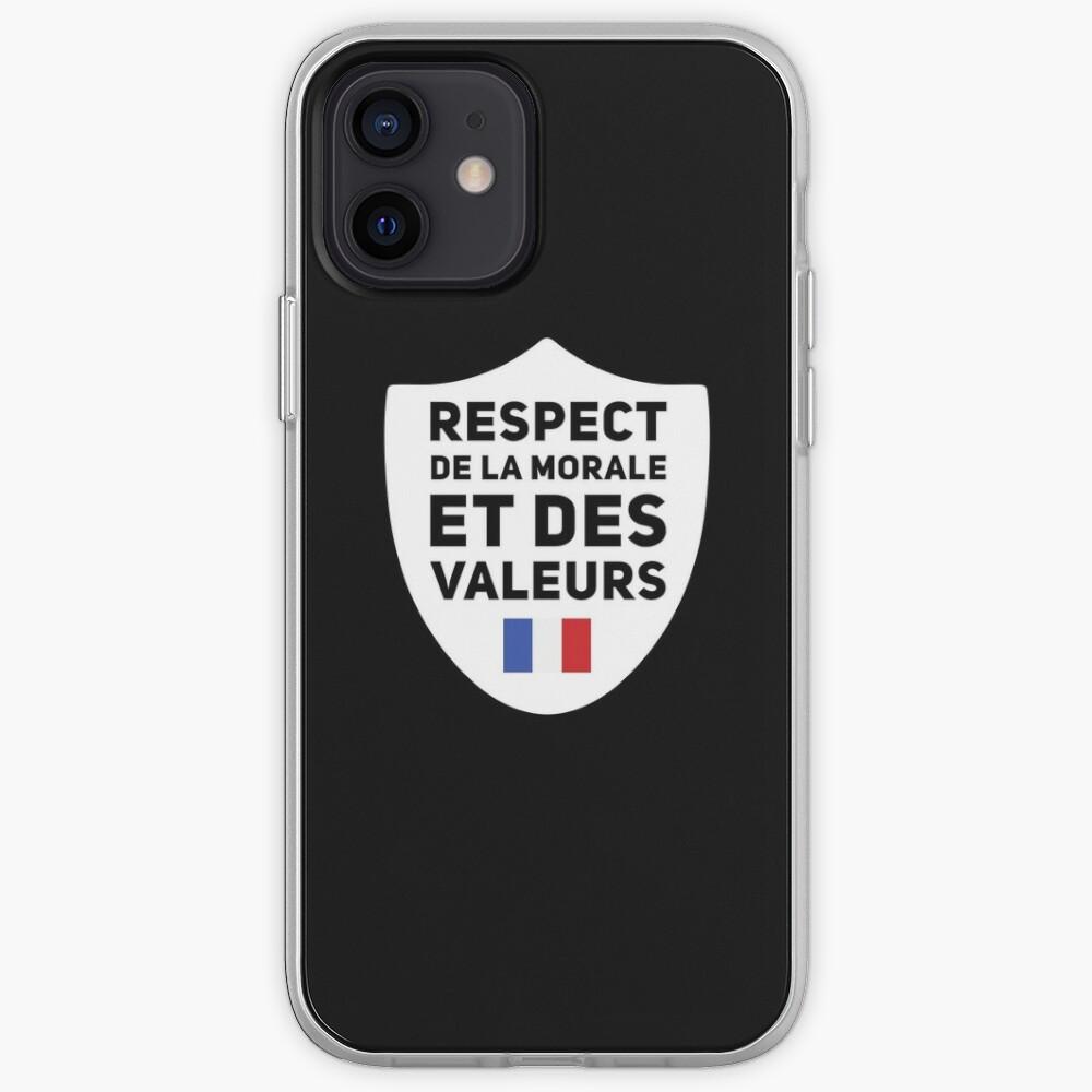 Respect de la moral et des valeurs police France | Coque iPhone