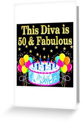 FESTIVE 50TH BIRTHDAY CELEBRATION CAKE