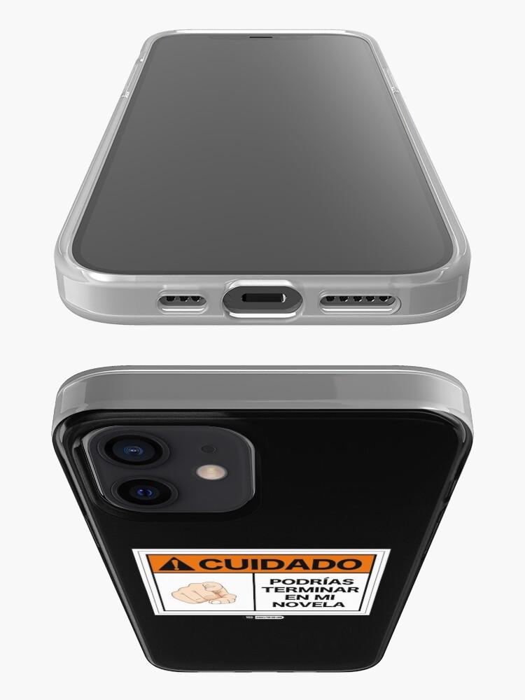 Vista alternativa de Funda y vinilo para iPhone ¡Cuidado! Podrías terminar en mi novela