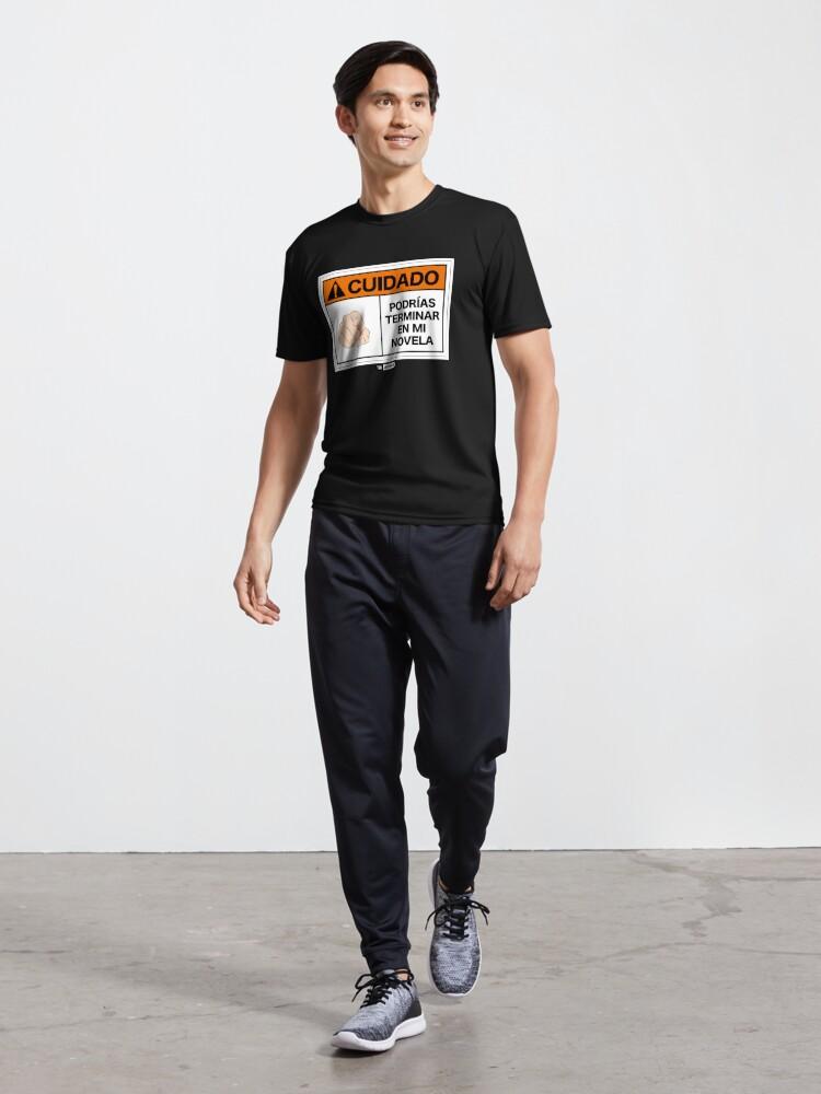 Vista alternativa de Camiseta deportiva ¡Cuidado! Podrías terminar en mi novela