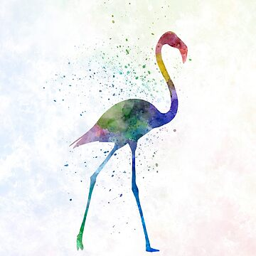 Flamingo 01 in watercolor by paulrommer