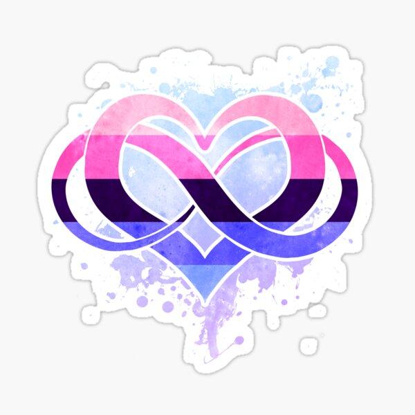 Omni flag - Poly heart - LGBTQ symbol Sticker