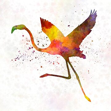 Flamingo 02 in watercolor by paulrommer