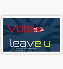 Vote Leave EU - British Flag Sticker